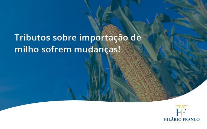 Tributos Sobre Importação De Milho Sofrem Mudanças! Hilario Franco - HF Franco